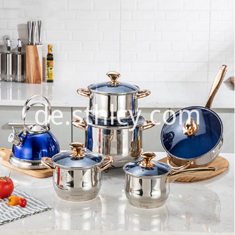 12 Pcs Stainless Steel Cooker Kit